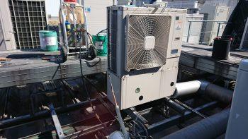 冷媒配管洗浄後 機器据付